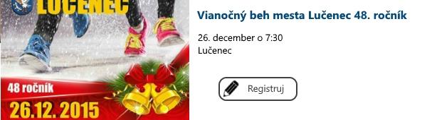 Vianocny beh mesta Lucenec
